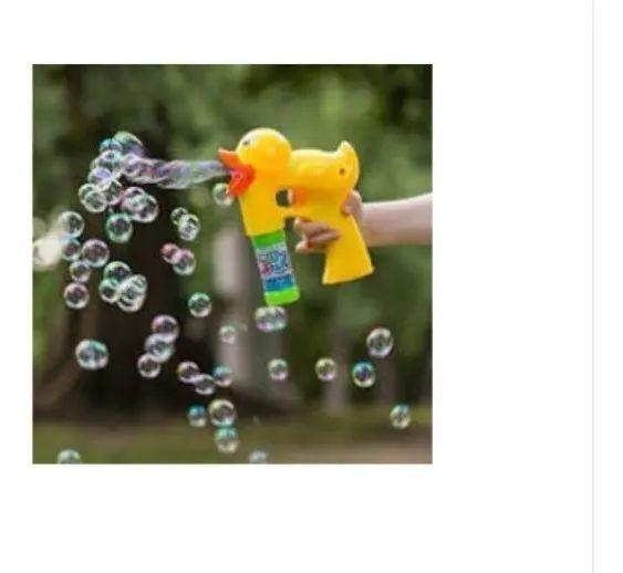 Lança Bolhas De Sabão Pistola Lançadora De Bolhas com 2 refil