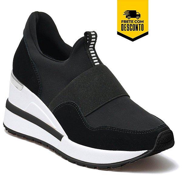 Tênis Feminino Sneaker Via Marte 21.1207 Caminhada
