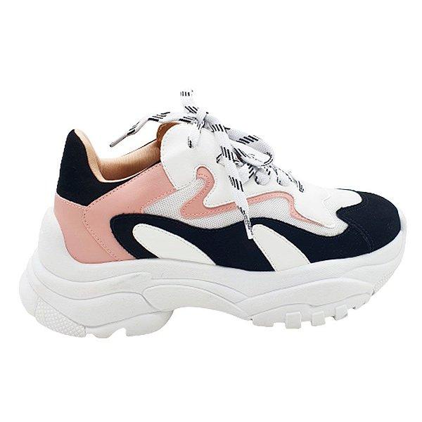 Tênis Feminino Chunky Sneaker Sola Alta Fashion Lançamento