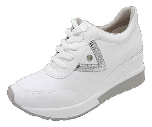 Tênis Feminino Anabela Sneakers Via Marte Leve Plataforma