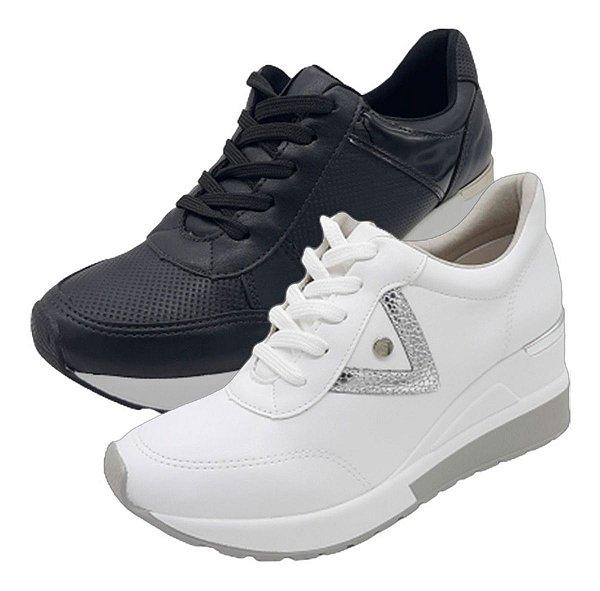 Tênis Feminino Anabela Plataforma Via Marte Leve Sneaker