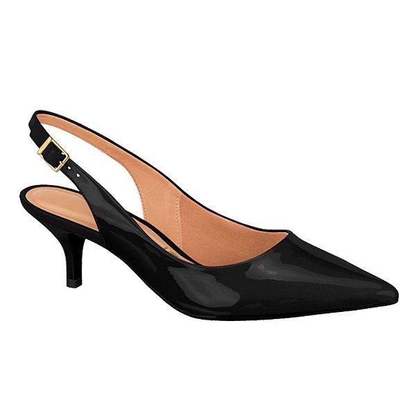 Sapato Scarpin Aberto Vizzano Salto Baixo Bico Fino Conforto