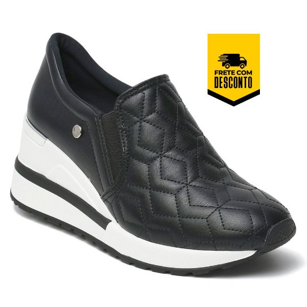 Tênis Feminino Casual Anabela Via Marte Sneaker Conforto 21-1205 Dia a Dia Novidade