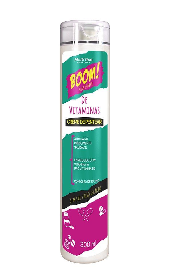 Creme de pentear boom de vitaminas