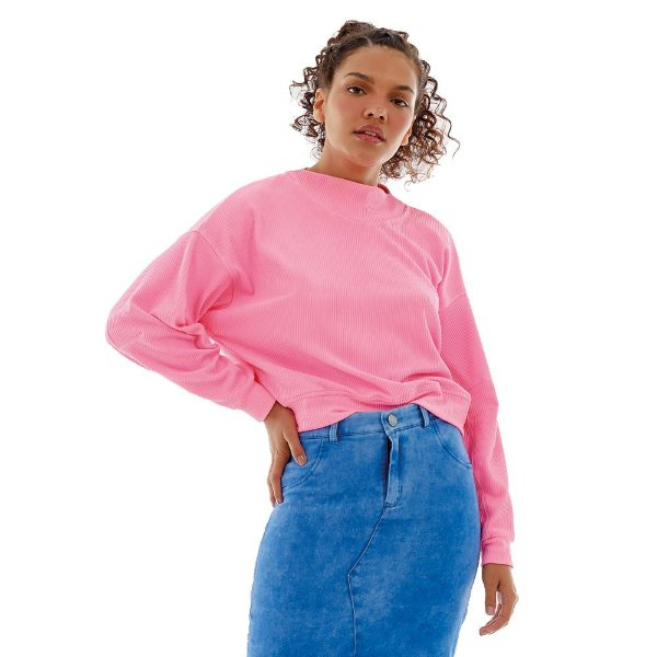 BLUSA GORGU LIGHT OVER ROSA CANDY TAM P - ALTOGIRO