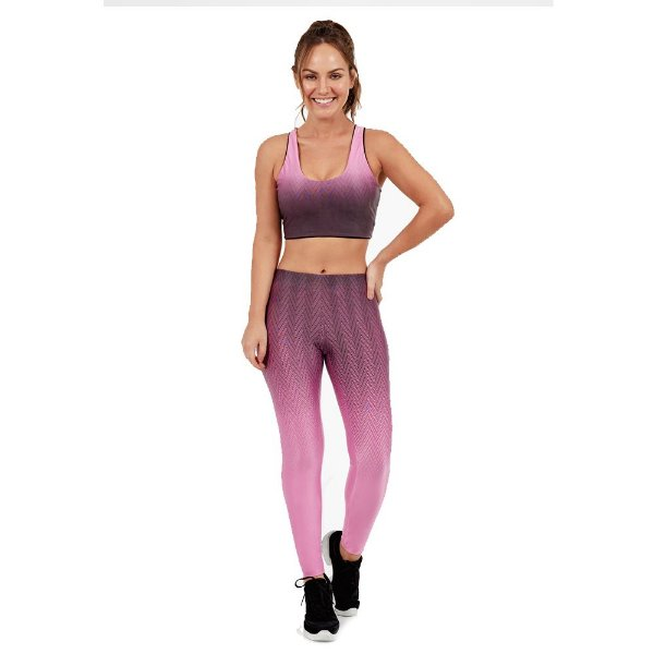LEGGING ATLETIKA DEGRADE ROSA HAPPINESS TAM M - ALTOGIRO