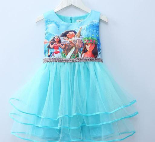 Vestido Moana Azul- Tamanho 7