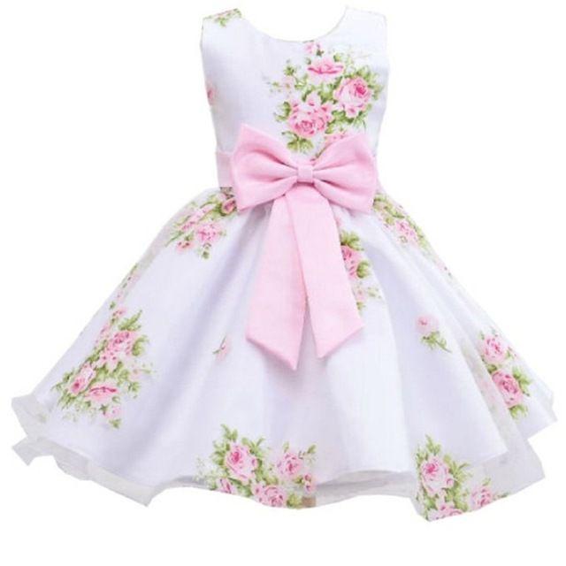 Vestido Branco Floral - Tamanho 10