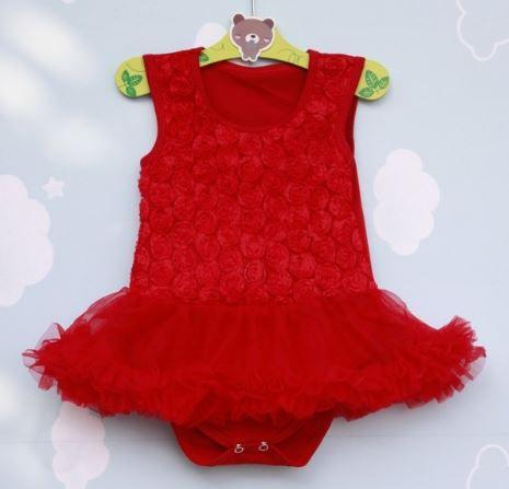 Bodysuit vermelho - 6 meses