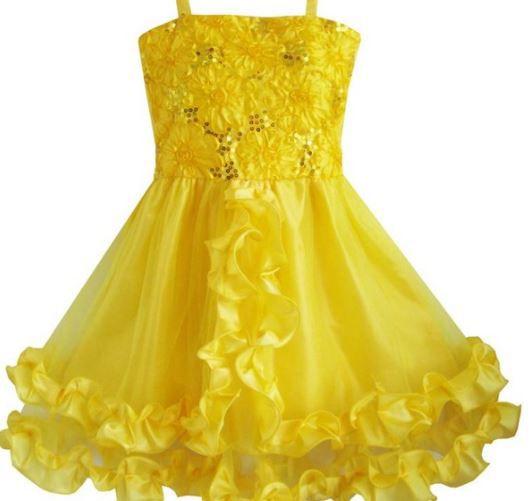 Vestido Amarelo Bela - Tamanho 8