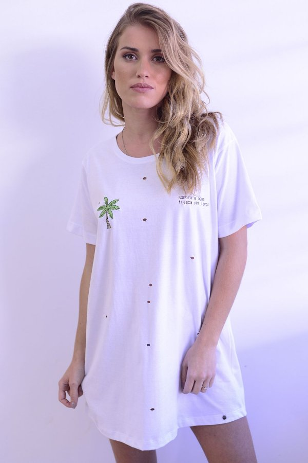 T-shirt dress Sombra e Água