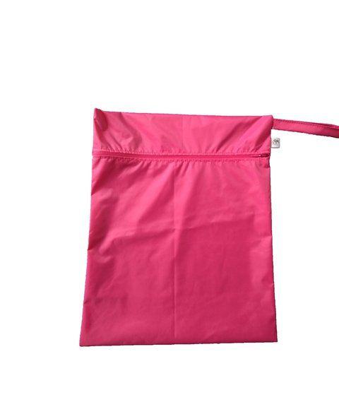 Sacola impermeável rosa