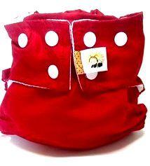 Fralda de Piscina Vermelha Recém-Nascido- Belinha Baby Acompanha absorvente