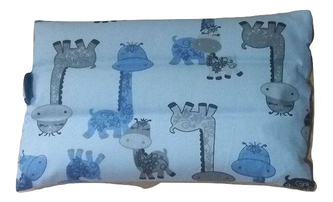 Bolsa aromática para cólica girafas azuis