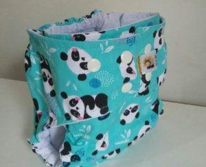 Fralda diurna Pandas- Belinha Baby - acompanha absorvente