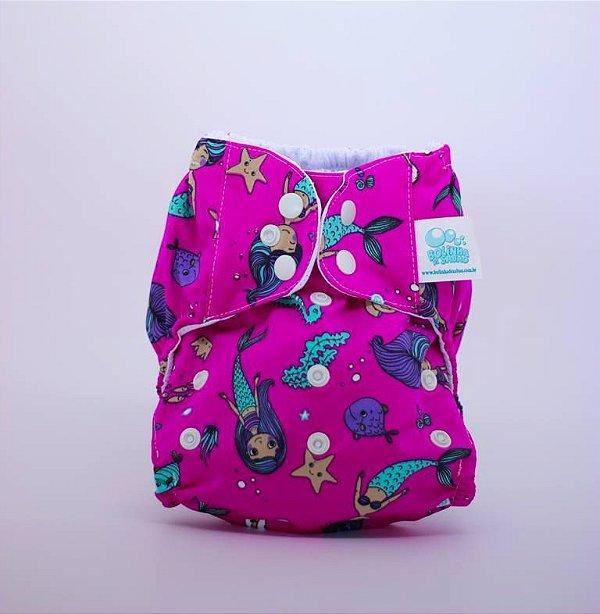 Fralda de Piscina Sereia Rosa - Bolinha de Sabão