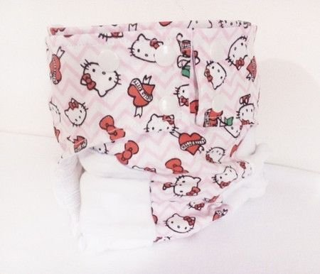 Fralda diurna Hello Kitty- Belinha Baby