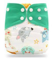 Fralda Animais verde em Pull - Happy Flute