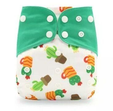 Fralda Cactos verde em Pull - Happy Flute