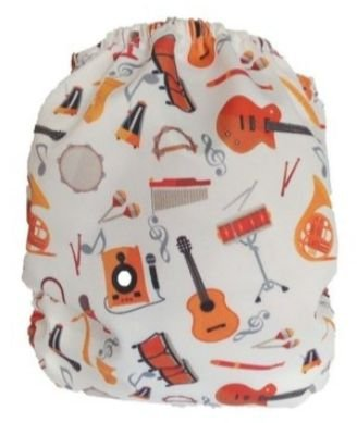 Fralda Instrumentos Musicais Recem nascido- Belinha Baby