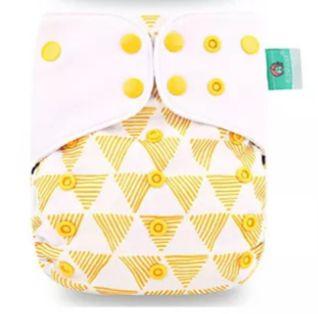 Triângulos Amarelos  -Elinfant - Fibra de café