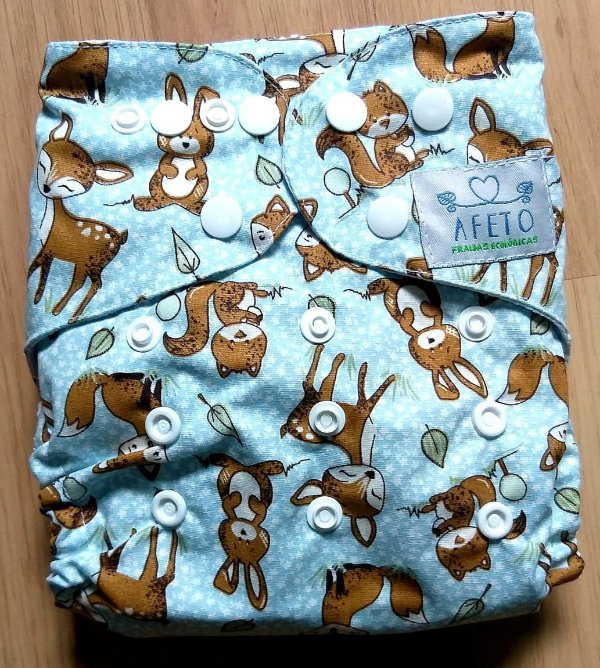 Animais na Floresta - Afeto - Acompanha absorvente de meltom 6 camadas