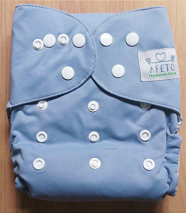 Azul acinzentado - Afeto - Acompanha absorvente de meltom 6 camadas