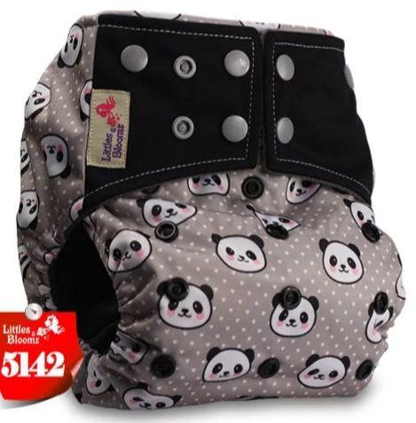 Fralda Pandas Carvão de Bambu  - Littles e Bloomz