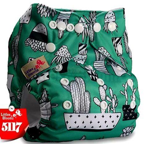 Fralda Cactos Verde em Pull - Little e Bloomz
