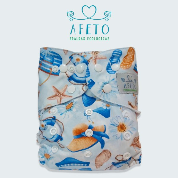 Praia  - Afeto - Acompanha absorvente de meltom 6 camadas