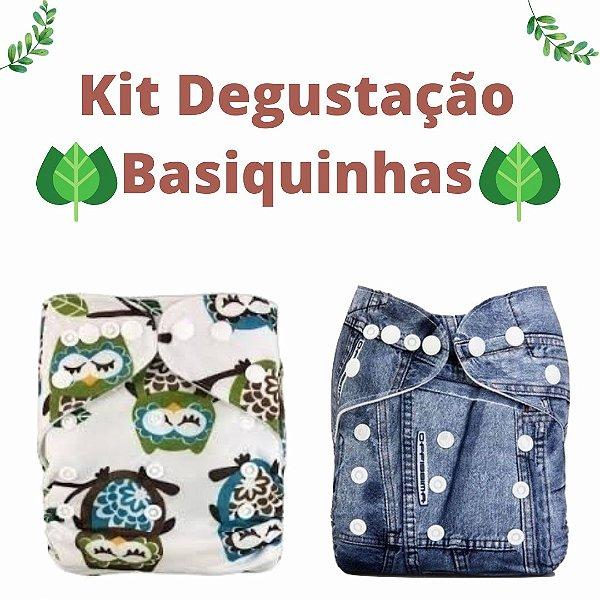 Kit Degustação Basiquinhas- Little e Bloomz- 2 fraldas e 2 absorventes