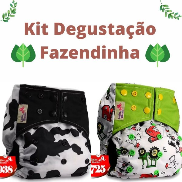 Kit Degustação Fazendinha - Little e Bloomz- 2 fraldas e 2 absorventes