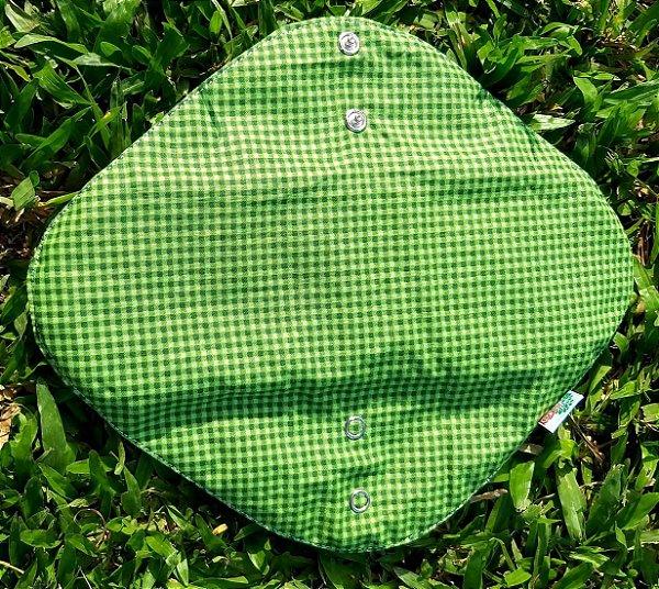 Absorvente Feminino Noturno Quadriculado Verde