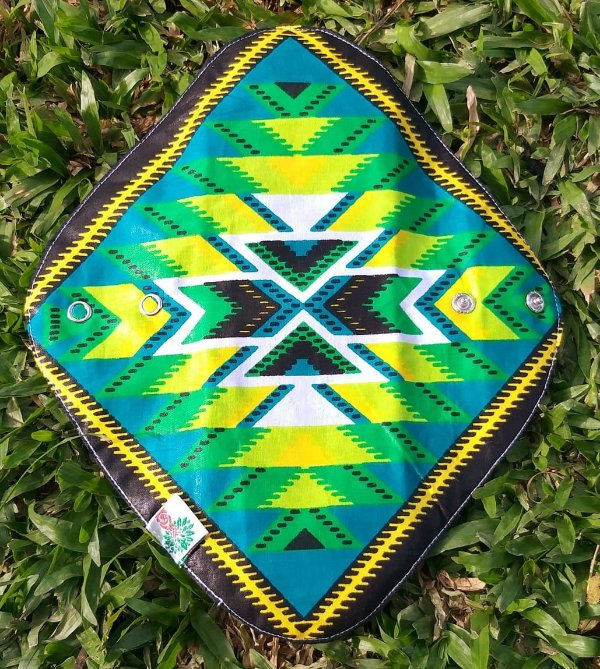 Absorvente Feminino Noturno Tribal Verde