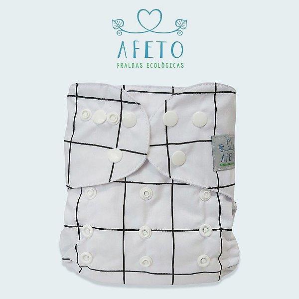 Preta e Branca  - Afeto - Acompanha absorvente de meltom 6 camadas