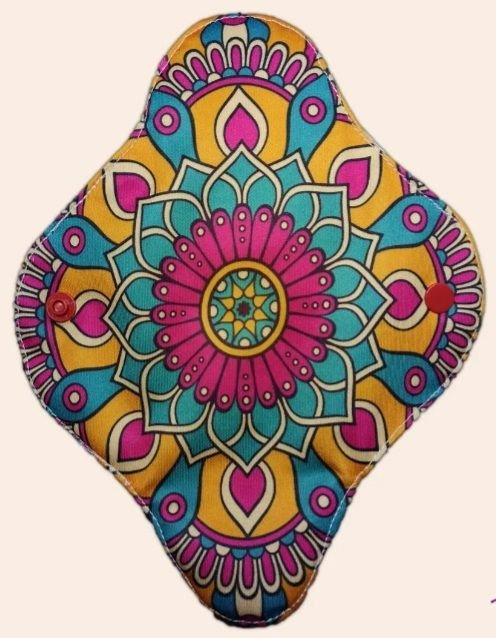 Absorvente Feminino Diurno Mandala Colorida