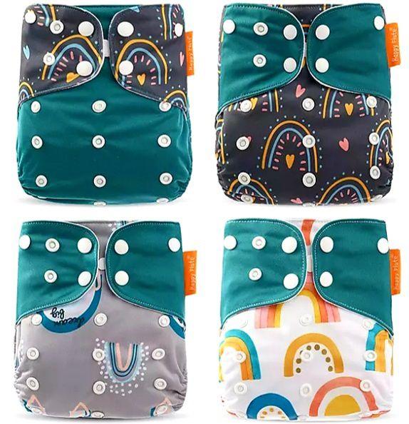 Kit Degustação  Verde Love - 4 fraldas e 4 absorventes