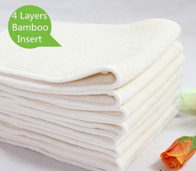 Kit de 5 absorventes de bambu