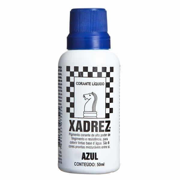 Corante Líquido Xadrez 50ml - AZUL