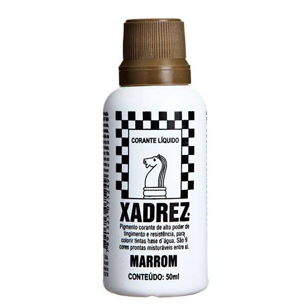 Corante Líquido Xadrez 50ml - MARROM