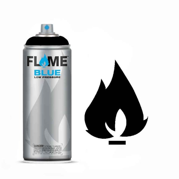 Spray Flame Blue - FB-904 Deep Black