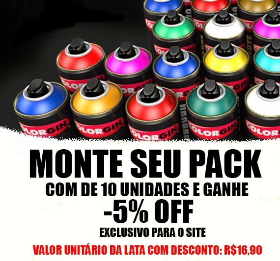 PACK Spray Arte Urbana Colorgin com 10 Unidades
