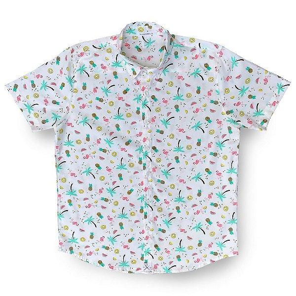 Camisa Flamingo Citric Kamizahia