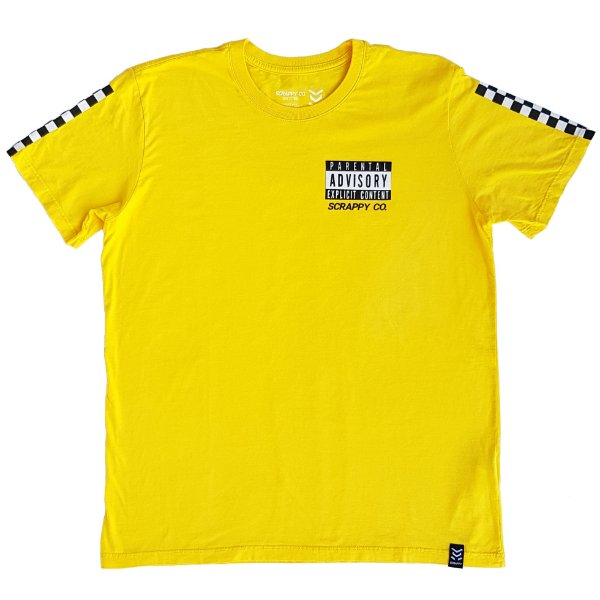 Camiseta Parental Advisory - Amarelo