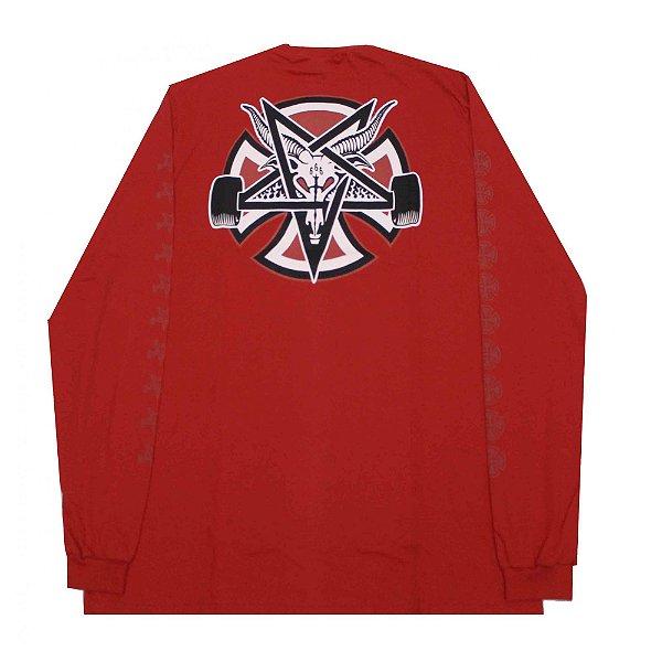 Camiseta Manga Longa Thrasher x Independent Pentagram Cross