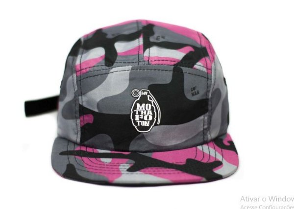 BONÉ FIVE PANEL MOTHAFOTOM RIPSTOP - CAMU/ROSE