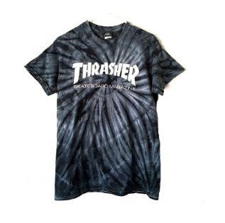 Camiseta Thrasher Magazine Skate Mag Spider Dye Preta