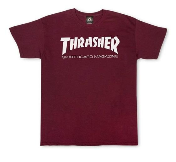 Camiseta Skate Mag Thrasher Magazine Original Bordô