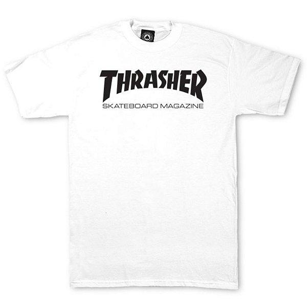 Camiseta Thrasher Skate Mag Logo Branca
