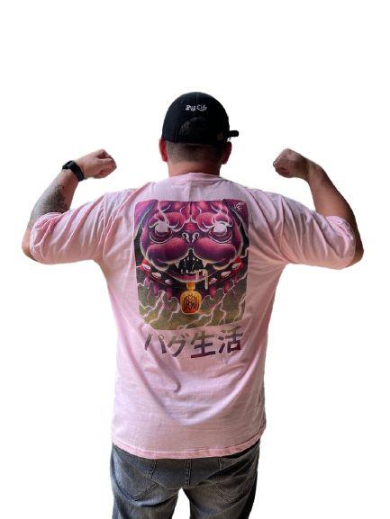 Camiseta Mmmv Pug Loko Rosa